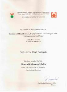 Certificate JJSobczak